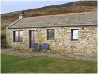The exterior of Scar Cottage on Hoy